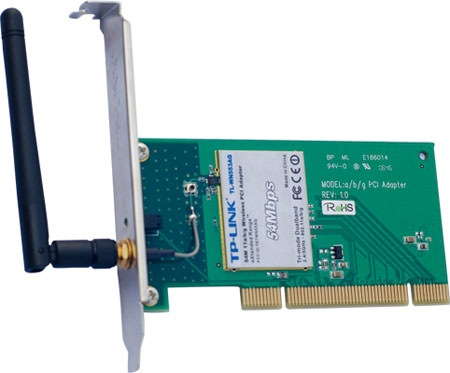 TP-Link TL-WN553AG 54Mbps 802.11a/b/g Wireless PCI Adapter ...