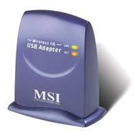 MSI UB54G USB2.0 Wireless 11g USB Adapter