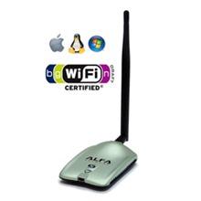 Alfa AWUS036NH 2000mW High Gain USB Wireless Long-Range Network Adapter