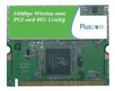 Pluscom Wireless 54Mbps Wifi Dual Band MINI PCI Network