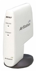 BuffaloTech AirStation 54Mbps Wireless Compact Repeater Bridge-g