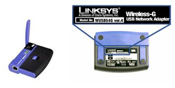 Support Serial WUSB54G ver.4. Close-up