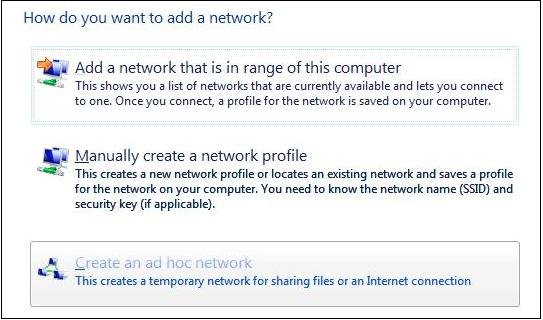Create a Secure Ad Hoc Wireless Network on Windows Vista*