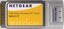 Netgear WG511T 108Mbps Wireless PC Card